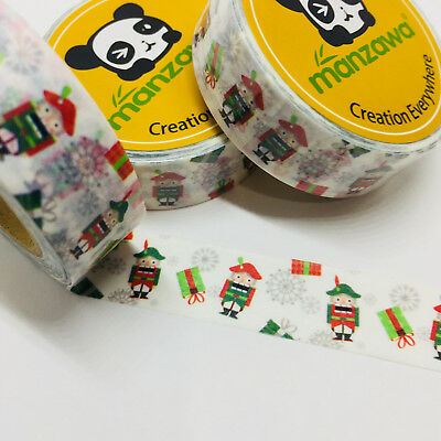 Washi Tape Nutcracker Christmas 15Mm X 10Mtr Planner Craft Wrap Mail Art
