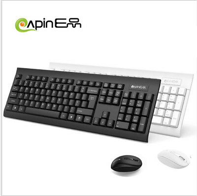 Wireless Keyboard Mouse,2.4GHz Ultra Slim Full Size Rechargeable Wireless Keyboa