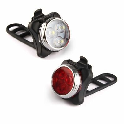 Rechargeable Bright LED Bike Lights Set - Headlight Taillight Combinations LED