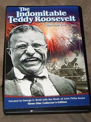 THE INDOMITABLE TEDDY ROOSEVELT (DVD, 2010, 3-Disc Set) - COLLECTOR'S EDITION