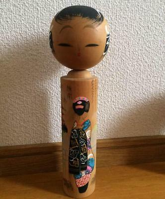 Kokeshi Japanese traditional craft cute rare kimono girl  retro beauty F / S!