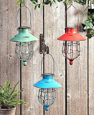 Solar Hanging Lantern Garden Led Lamp Light Yard Patio Outdoor Decor Landscape
