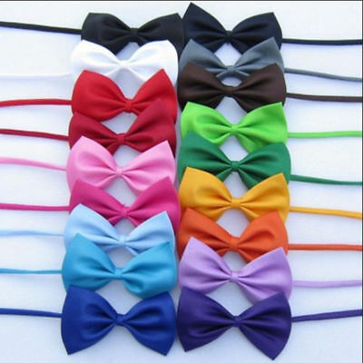 50pcs/ Lot Puppy DOG CAT Pet Bowtie Pet Bow Tie Polyester Dog Necktie Wholesale