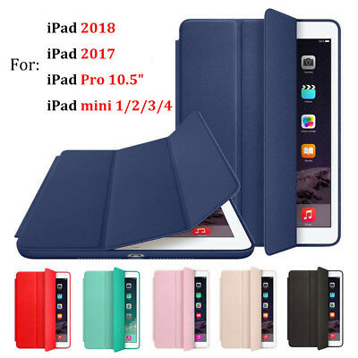 For Apple iPad 6th Generation 2018 9.7in Magnetic Silicone Slim Smart Cover Case