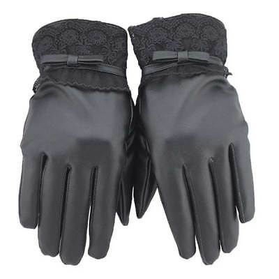 Ladies Womens Touch Line Screen Phone Thermal Driving Gloves Warm Leather Winter