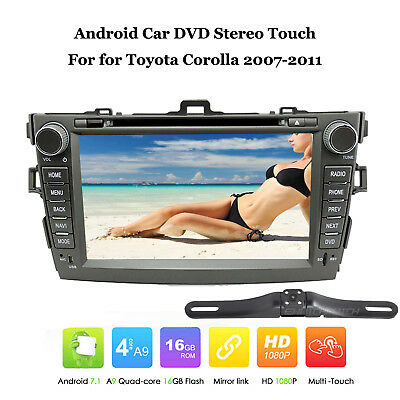Android Car DVD Player In Dash GPS Touch for Toyota Corolla 2007-2011 Stereo+Cam