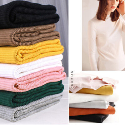 66ba4a6fb1d Elastic Cotton Knitted Trim Fabric Cuffs Knit Jersey Dressmaking Craft By  Meter