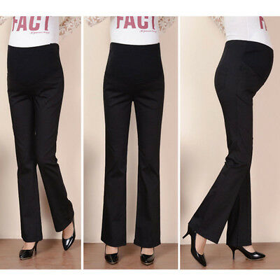 AU Maternity Pregnancy Wear Pregnant Casual Trousers Work Office Over Bump Pants