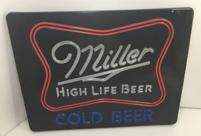 VTG Miller High Life Cold Beer Bar Lighted Sign Cover Replacement Part ONLY