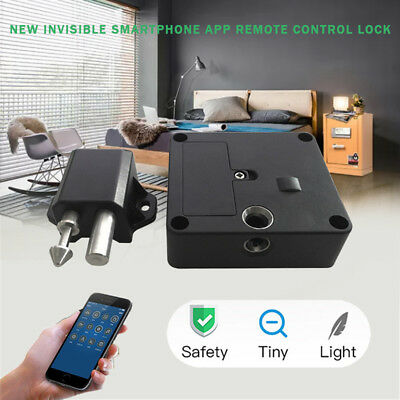Bluetooth Smart Electronic Hidden Cabinet Door Drawer Lock Home Safety Security
