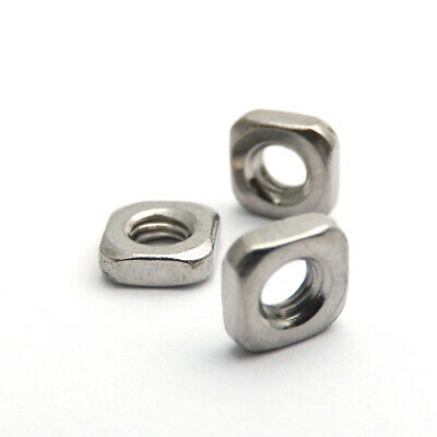 500X M3x5.4x1.8  A2 STAINLESS STEEL SQUARE THIN  NUTS  DIN 562