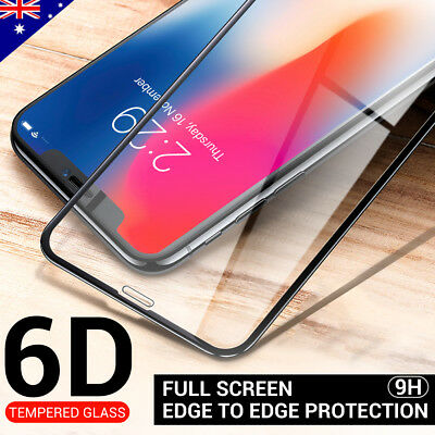 Apple iPhone XS Max XR X Tempered Glass Screen Protector Real 6D Full Cover 9H X