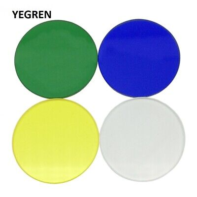 Biological Microscope Optical Color Filter 32 mm Dia. 4 Pieces Blue Green Yellow