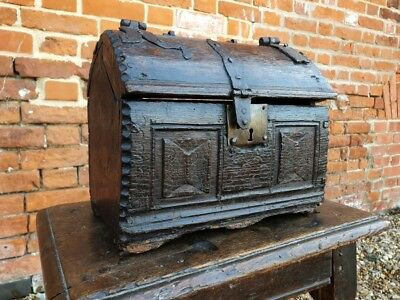 Rare 16th Century Henry VII Period English Antique Table Top Box Casket, C.1500
