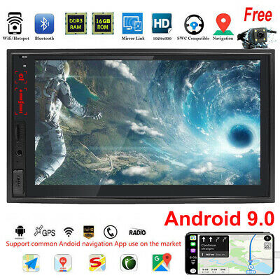 "7"" TFT Touch Screen 2DIN Car Radio AM FM DVD Player GPS Android WIFI Bluetooth"
