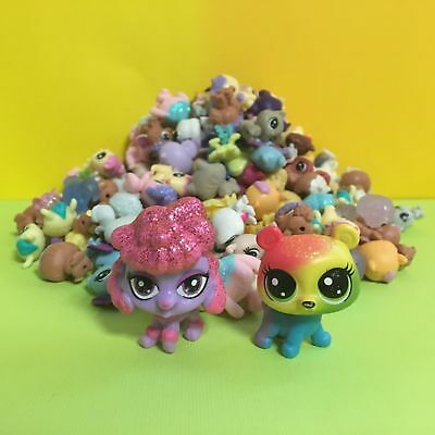 10pcs Littlest Pet Shop LPS Mini Baby Toy Send Random+ 2pcs Dog Figure