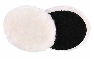 "1 x High-Nap Wool Polishing Pad - (3"") 82mm x 15mm  - Hook & Loop - UK Seller"
