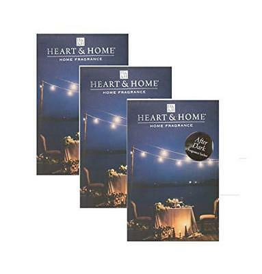 Pack of 3 Heart and Home After Dark Large Scented Fragrance Sachet with Hanger