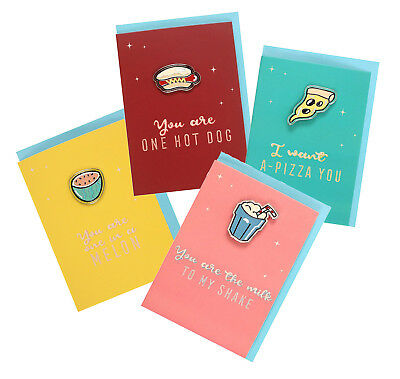 American Retro Enamel Pin Badge Birthday Gift Card Brooch Cool Diner Present