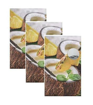 Pack of 3 Heart and Home Pina Colada Large Scented Fragrance Sachet with Hanger