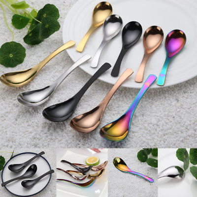 Stainless Steel Soup Spoon Kitchen Tableware Chinese Tablespoon S/M/L Capacity