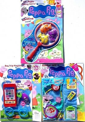 3 x PEPPA PIG MAGAZINES ~ ALL BRAND NEW WITH GIFTS ~
