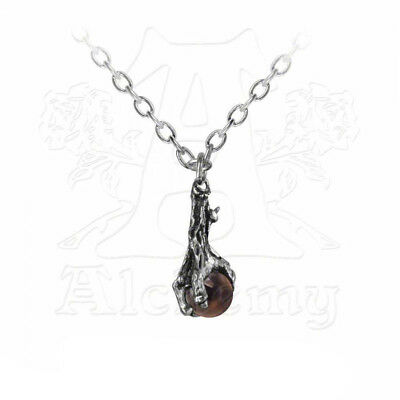 Necklace Collier Alchemy Gothic Dragon's Claw Crystal Crystal ball RARE Gothique