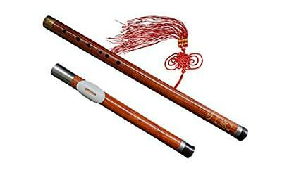 Sandalwood Bow Flute Bauer Pipe Wood Wind Removable # 103 + Case + Play Guide