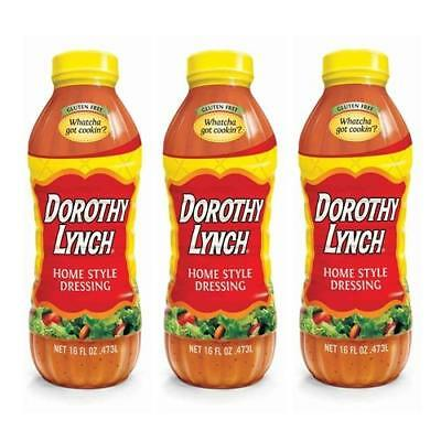 Lot of Three (3), 16 oz. Bottles, DOROTHY LYNCH HOME STYLE DRESSING