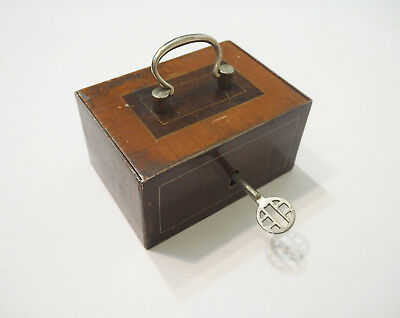 Antique Russian Decorated Iron Safe Strong Box strongbox With Key