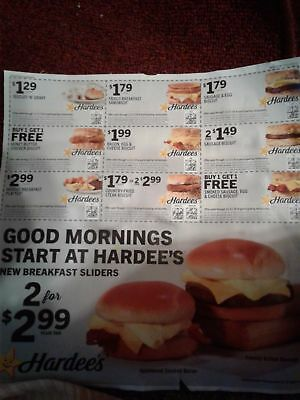 Hardees Coupons (90) Exp 11/11/18