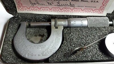 Starrett No.230 0-1 inch outside micrometer (.0001) Grad.
