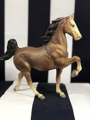 Breyer Traditional Horse Commander The Five Gaiter Brown 1960's Signed C. Hess