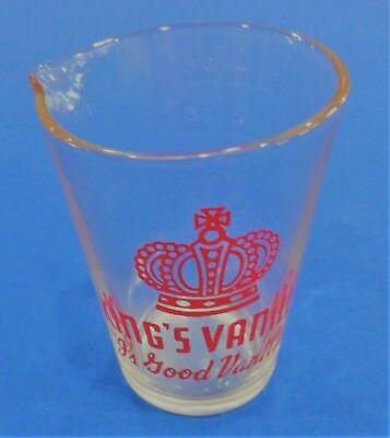 Rare, Vintage, King's Vanilla 4 Ounce Glass Measuring Cup - Excellent Condition