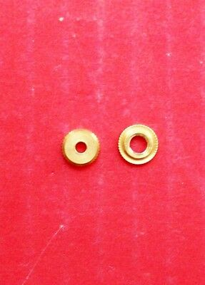 Cuckoo clock hand nuts, 2 pieces used for early small count wheel movements.
