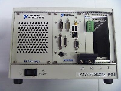 National Instruments PXI-1031 Chassis with (PXI-8186, PXI-8461)