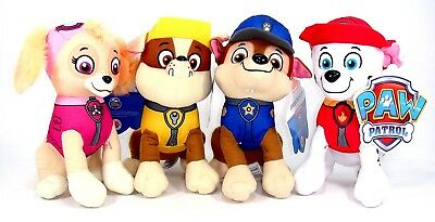 "New 8"" Paw Patrol Plush Stuffed Animal Toy Set: Chase, Rubble, Marshall & Skye"