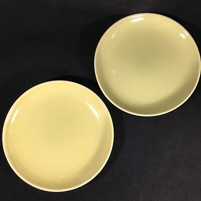 2 Russel Wright China Iroquois Salad Plates Chartreuse Mid Century MCM