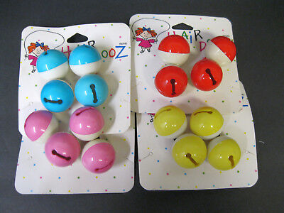 Vtg New 1988 You Choose Color Jingle Bells Hair Ties Ponytail Holders Hair Dooz