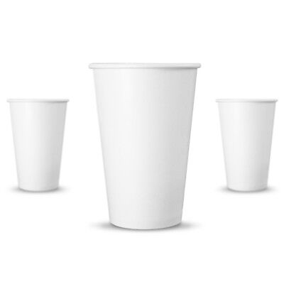 100 Ct. 10 Oz. Eco Friendly White Paper Hot Tea Coffee Cups Disposable No Lids