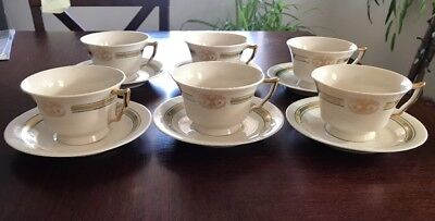 Set Of 6 Vintage Tea Cup China Sets For Atlantic Mutual Insurance Company