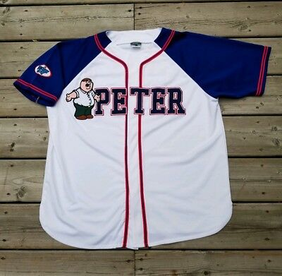 Family Guy Peter Griffin Baseball Jersey Size Medium Men's Cartoons