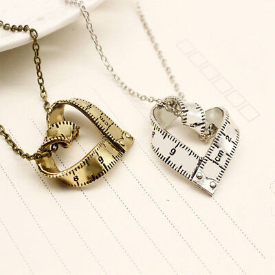 Shape Measure Ruler Pattern Women Girl Pendant Fashion Jewelry Necklace Gift