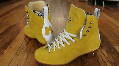 Moxi Jack roller skate boots Pineapple Yellow Skate Ratz is a trusted Moxi shop