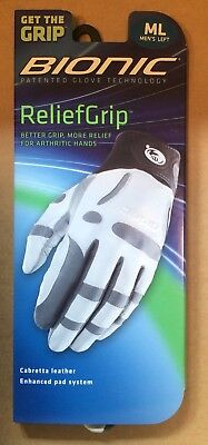 Bionic Golf Glove ReliefGrip - White - Leather