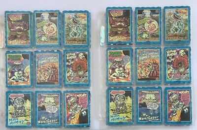 Complete Set Oddbodz Blue Space Normal & Hot 61/61 All 122 Cards - Glow Zone