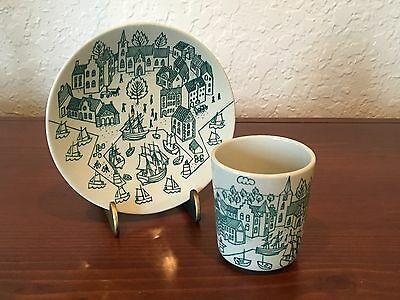 Nymolle Art Faience HOYRUP Demitasse Cup & Saucer Limited Edition 4006 EUC!