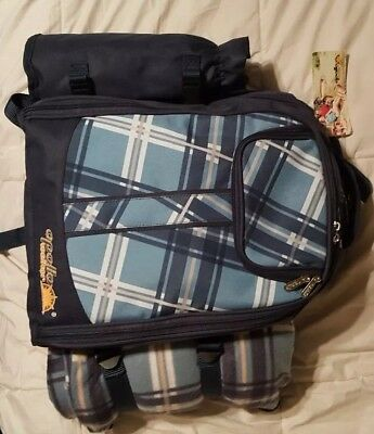 Picnic Backpack Bag for 4 Person With Cooler Compartment, Detachable Bottle/Wine