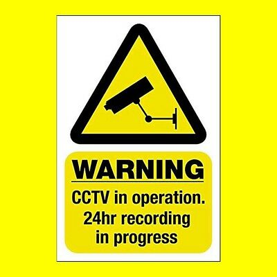 CCTV In Operation Warning Sign / Sticker - All Sizes & Cheap