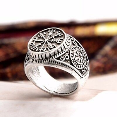 Available Valknut Runic Odin Symbol Vintage Jewelry Compass Viking Finger Ring